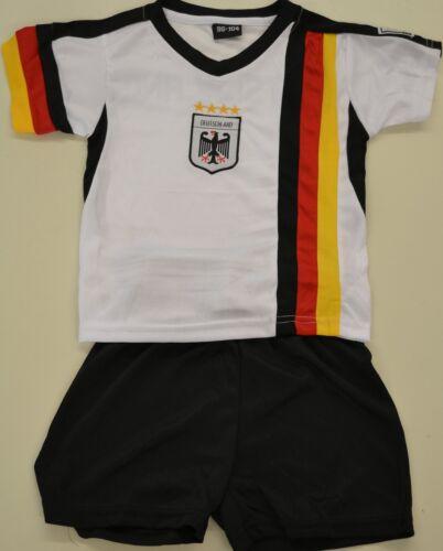 4 étoiles champion du monde Allemagne Enfants maillot avec pantalon taille 96//104