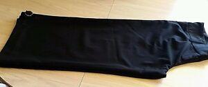 Women-039-s-Black-Dressy-Crop-Pants-Size-2-USA-Polyester-Rayon-Spandex-VGUC