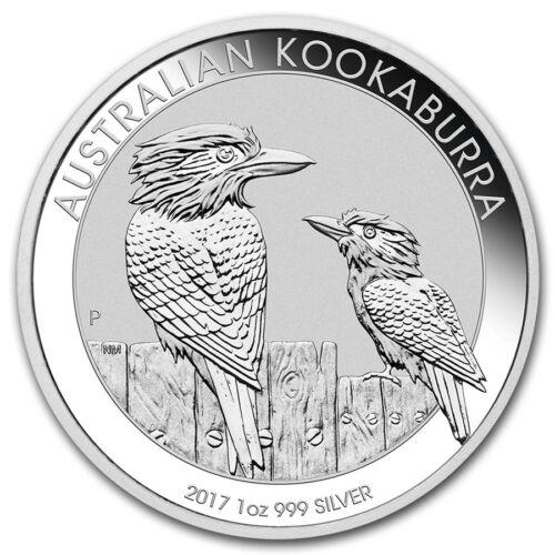 2017-P Australian Kookaburra 1 oz .999 Silver Round Capsuled Bullion BU Coin