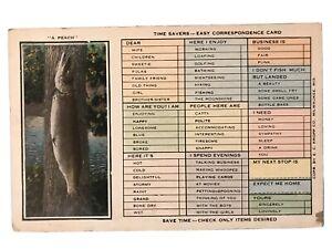 034-A-Peach-034-Time-Savers-Easy-Correspondence-Card-Postcard