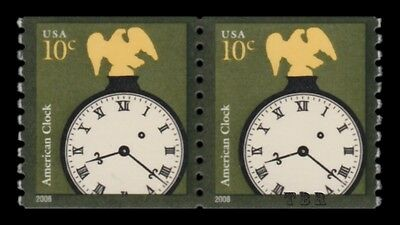 Scott 3763a American Clock 10c Untagged Pair 2013 Design Reprint MNH - Buy Now