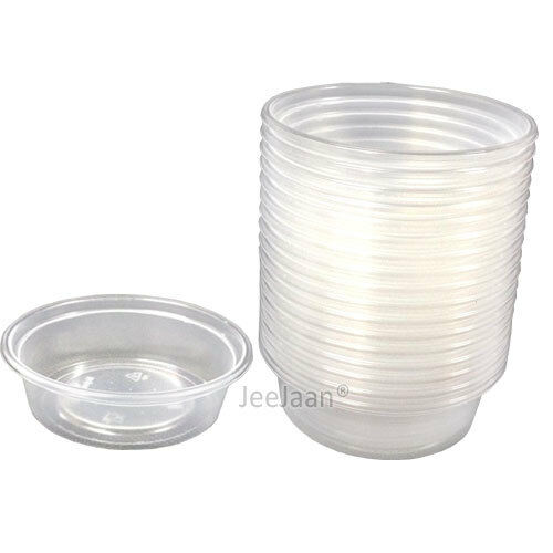 2000 - 2oz   60ml CLEAR PLASTIC ROUND CONTAINERS TUBS LIDS FOOD SAFE TAKEAWAY
