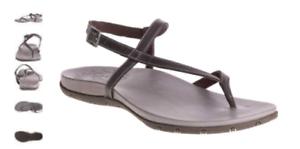 6c838a310e8 Chaco Rowan Grey Leather Ankle Strap Comfort Sandal Women s sizes 5 ...