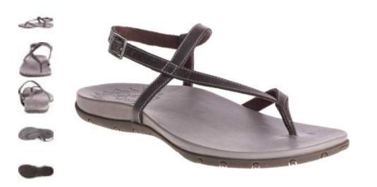58afa1ff0ca0 Chaco Rowan Grey Leather Ankle Strap Comfort Sandal Women s sizes 5-11 NIB!