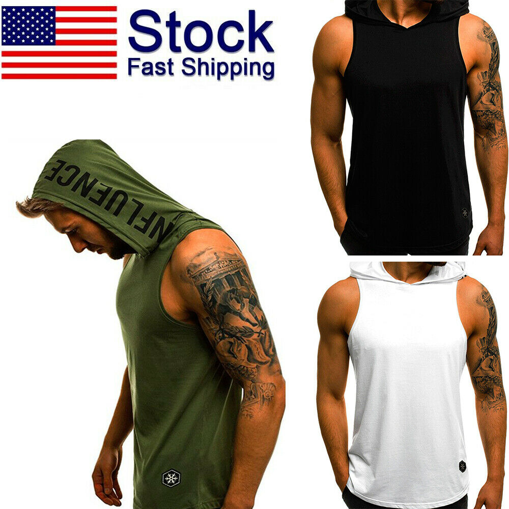 Womens Ladies Sleeveless Workout Muscle Racer Back Cotton Gymming Tank Vest Top