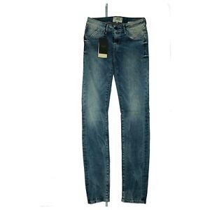 SCHOOL RAG Lauryn super slim skinny Damen Jeans stretch Hose W26 L32 Blau NEU