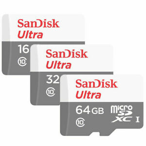 SanDisk Ultra Micro SD Card 16GB 32GB 64GB Class 10 SDHC Memory Card
