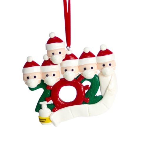 Personalized Name Christmas Ornament kit with Mask For Family Christmas Decor
