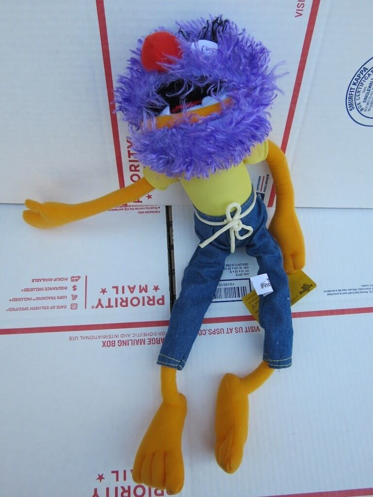 Muppet Toy Factory Purple Animal Plush Rare 16