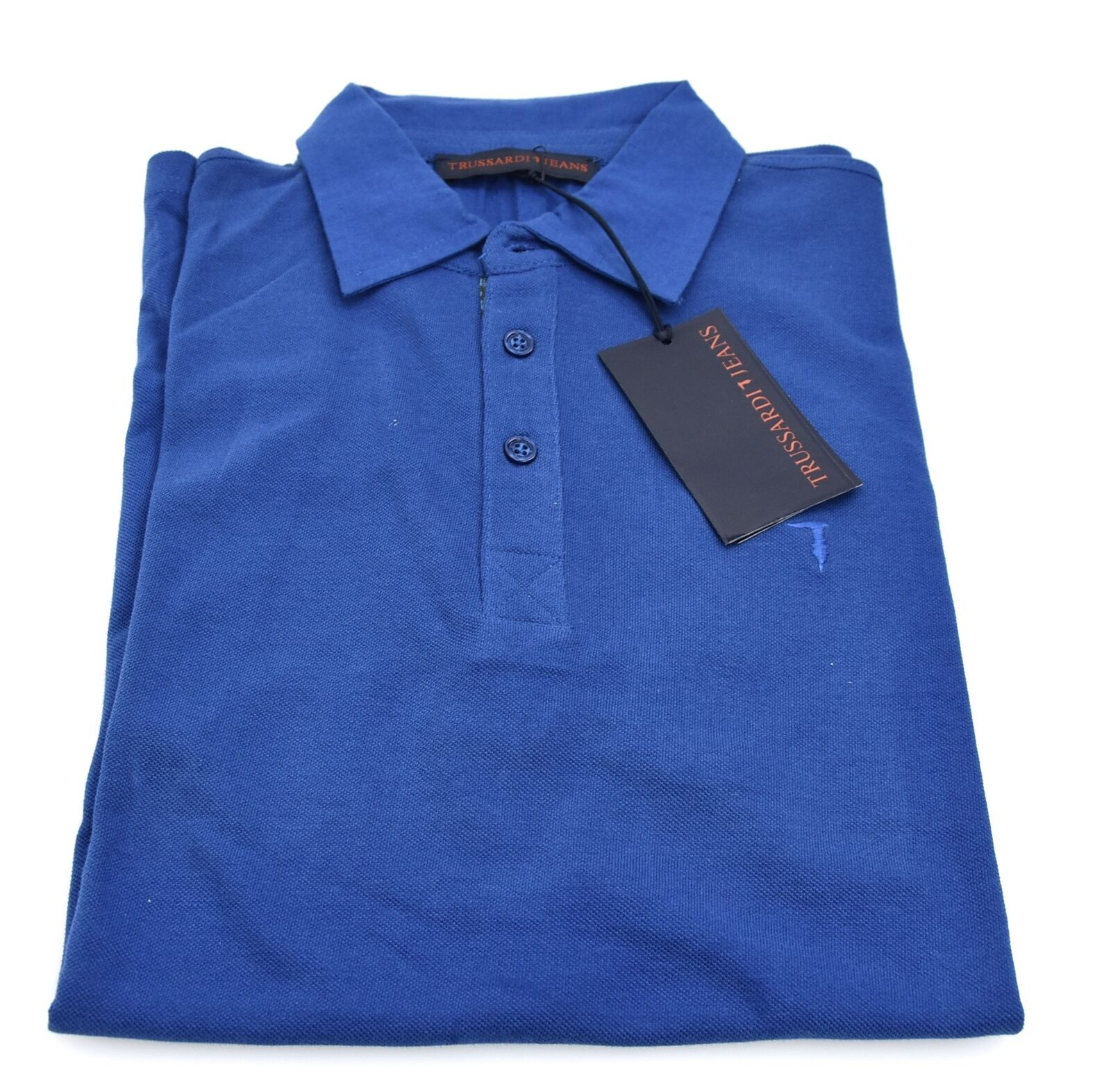 TRUSSARDI JEANS MAN POLO SHIRTS CASUAL FREE TIME COTTON SHORT SLEEVE CODE 52T60
