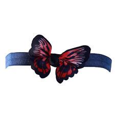 Kids Butterfly Headband Stretch Hairband Elastic Hair Band Head Wrap Turban W