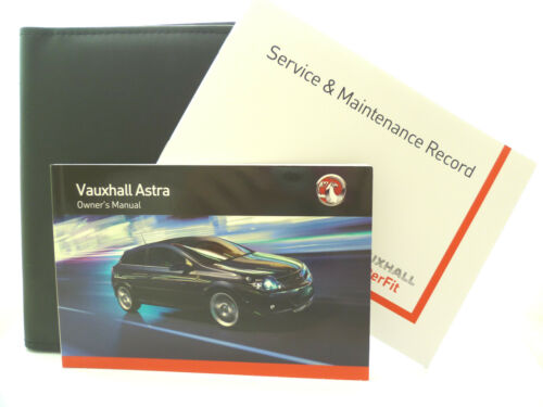 VAUXHALL  ASTRA H /& ESTATE SERVICE BOOK HANDBOOK /& WALLET PACK 2010-2013