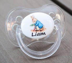 ALL TEATS,SIZES /& COLOURS PERSONALISED DUMMY PACIFIER SOOTHER NAME /& CROWN P