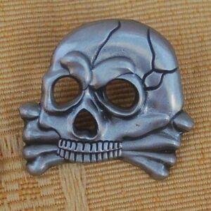 Husaren-Totenkopf-Skull-Biker-Pin-Button-Badge-Anstecker-Anstecknadel-380