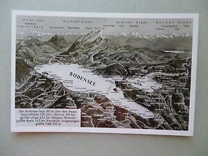 Ansichtskarte-Bodensee-Landkarte-50-60er