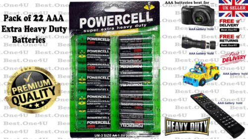 Cheap Price ** AAA Batteries 22 Pack Power Cell Heavy Duty **Brand new