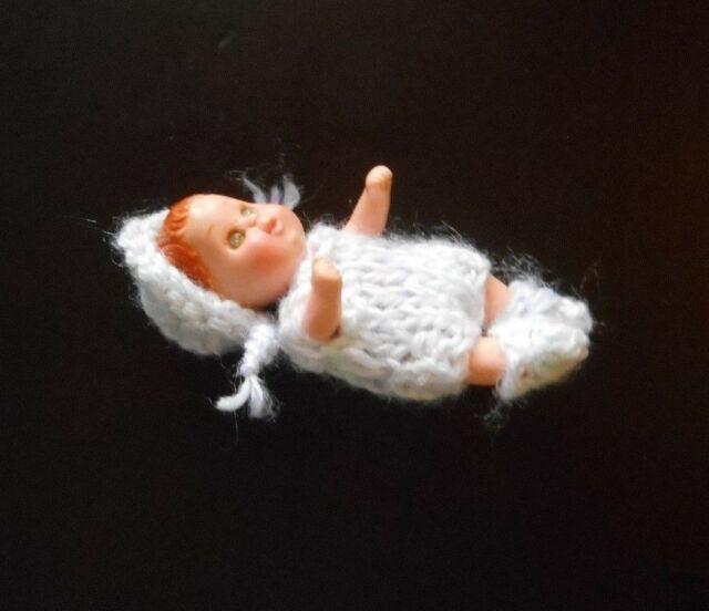 "Doll Clothes 3 pc Outfit for Miniature Baby Polymer Clay Artist ooak 2"" to 2.5"""