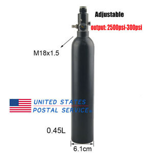 4500psi-0-45L-Air-Tank-M18x1-5-PCP-HPA-Cylinder-2500-3000psi-Output-Valve-US
