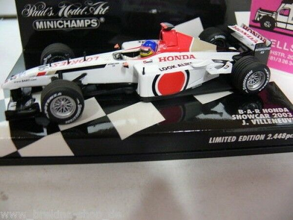 1 1 1 43 Minichamps B.A.R Honda Showcar 2003 J. Villeneuve 400030086 b0d27f