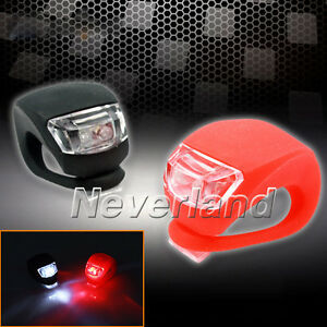2x-LED-SILICONE-MOUNTAIN-BIKE-BICYCLE-FRONT-REAR-LIGHT-SET-PUSH-CYCLE-LIGHT-CLIP