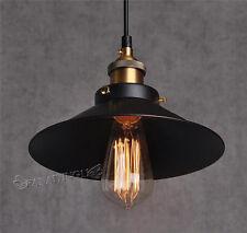 Retro Industrial Iron Vintage Fixture Ceiling Lamp Pendant Light Deco Chandelier