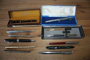 Lot de stylos anciens divers Waterman, Stephens, Parker ...