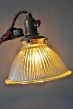 REFLECTEUR LAMPE GRAS VERRE RARE ATELIER INDUSTRIELLE