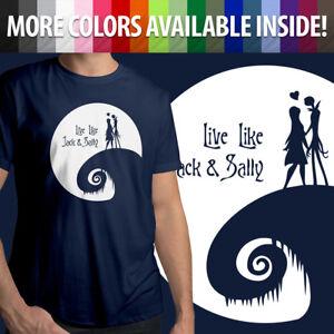 Nightmare Before Christmas Live Like Jack Sally Moon Light Crew Tee Mens T-Shirt