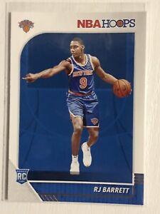 2019-20 Panini NBA Hoops Rookie RC #201 RJ Barrett New York Knicks