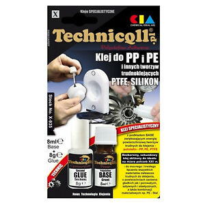 Technicqll PP PE PTFE Polypropylene Polyethylene Adhesive Glue 2 x 8