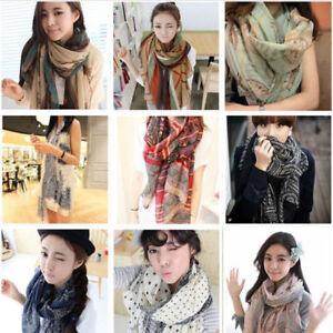 Women Soft Long Neck Large Warm Scarf Wrap Shawl Pashmina Stole Scarve Cotton