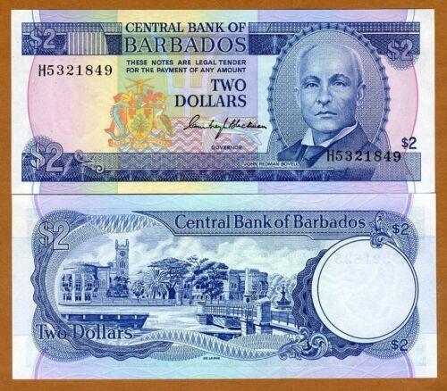 ND 1980 P-30 UNC $2 Barbados