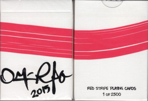 Red Stripe Playing Cards Poker Size Deck HCPC Custom Limited Edition New Sealed