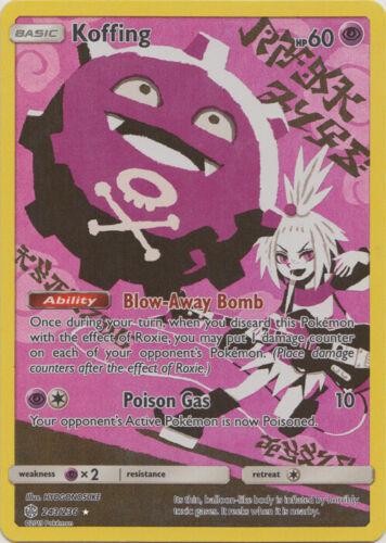 Cosmic Eclipse NM-Min Secret Rare Sun /& Moon 1 x Pokemon Koffing 243//236