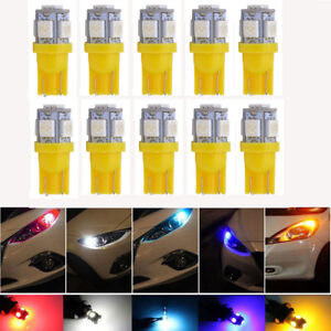 10x-T10-5050-W5W-5-SMD-194-168-LED-Yellow-Car-Side-Wedge-Tail-Light-Lamp-Bulb