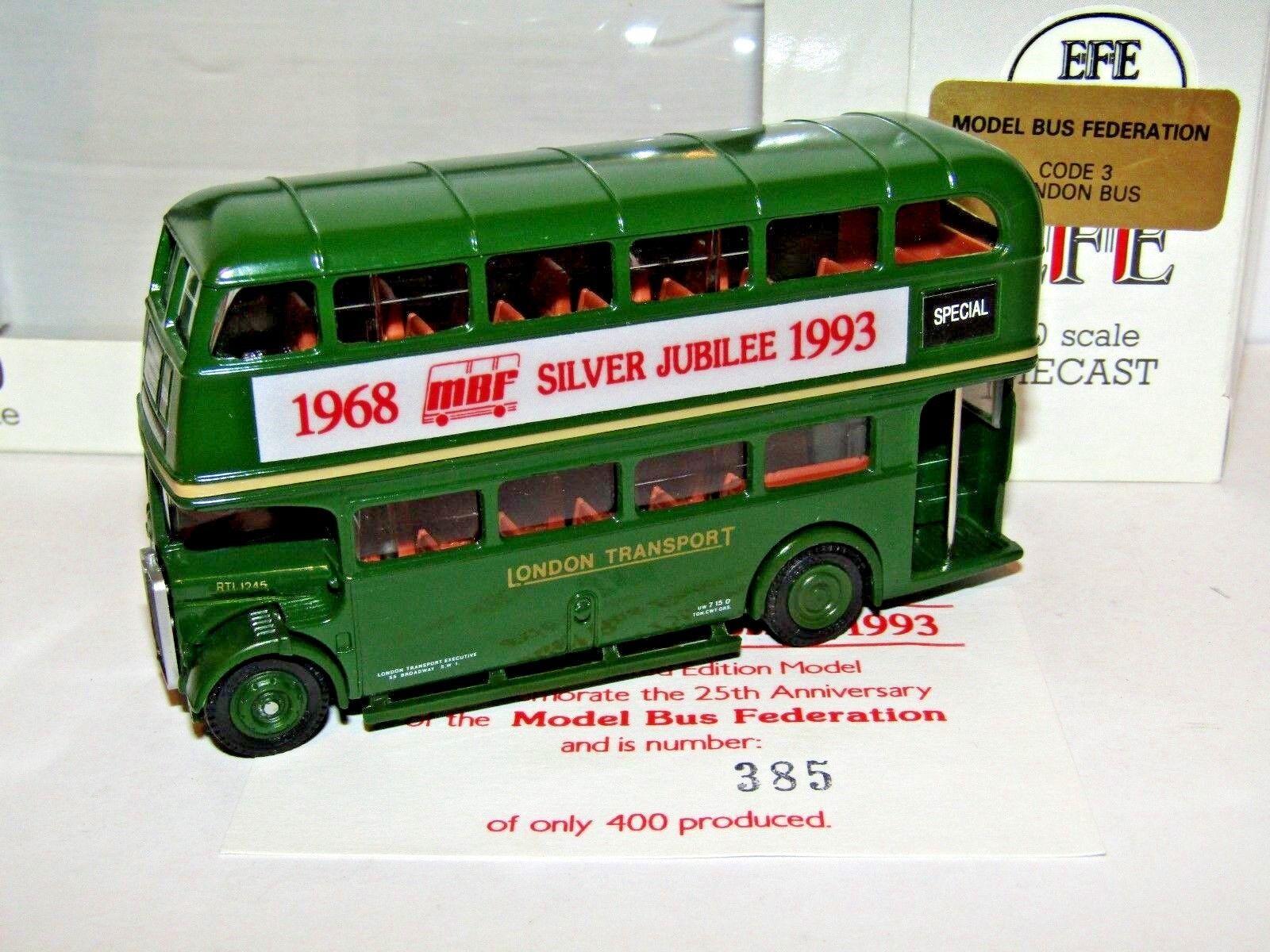 Efe RTL Bus Londres transporte MBF Jubileo 1993 verde 1 76 11103B