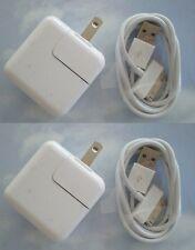 2 SETs - 12 Watt 2.4 AMP Wall Charger for iPad 2,3,4,5 USB and sync CABLE 30 pin