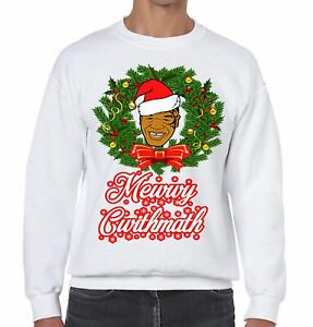 Mike Tyson Merry Christmas Funny Sweater Ugly Xmas Jumper Size