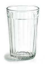 Faceted Drinking Glass Russia Water Glass Clear USSR Style Hot and Cold Drinks