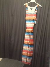 Allison Brittany Plus Size Maxi Dress Mesh Overlay Faux Leather Belt 3X Pink Com