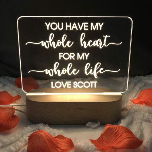 Personalised Love Lights Popular Sayings Design