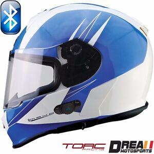 TORC T14B T14 BLUETOOTH MATTE FLAT GLOSSY FULL FACE MOTORCYCLE HELMET DOT XS-XXL