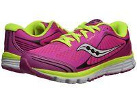 Saucony Snekers Kinvara 5 Pink/black Tie Sneakers Girls Size 1 1/2 Medium