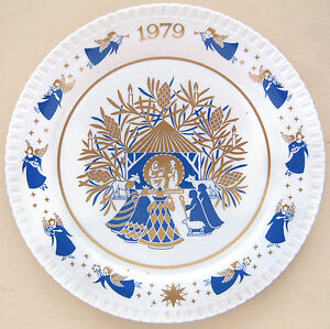 Spode Christmas Plates.Details About Spode Christmas Plate Tenth Issue 1979 Away In A Manger 8 Diameter