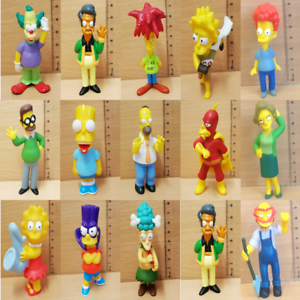 The Simpsons Character Hard Rubber Various Plastic Character Figures Misc