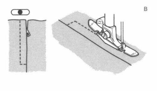 Genuine Husqvarna Viking Edge Stitching Foot 412796745 Fits 1-7