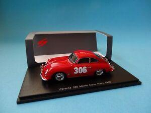 PORSCHE-356-306-L-STROSS-RALLY-MONTE-CARLO-1958-1-43-NEW-SPARK-S1354