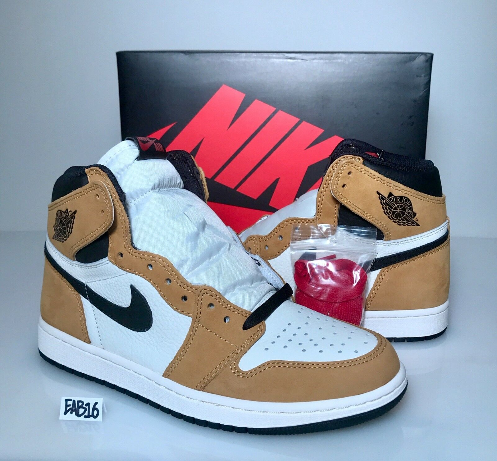 762f912ce53 Nike Air Jordan Retro 1 High OG Rookie of the gold Harvest 555088 700 R.O.Y  Year nboaet4590-Men's Athletic Shoes