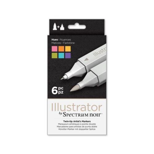 Espectro Noir ilustrador marcadores conjuntos-Twin Nuevo En Caja-artistas-Crafters Companion