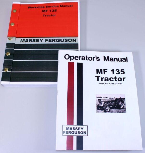 massey ferguson mf 135 tractor service owners operators manual book rh ebay com mf 135 owners manual download mf 135 service manual pdf